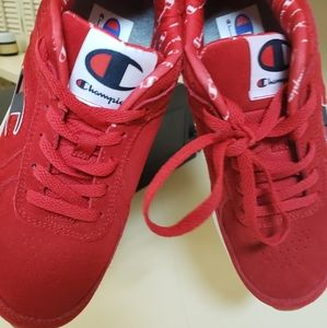 Red Champion shoes